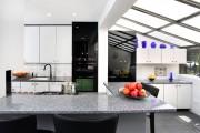 Фото 16 Черно-белая кухня: 40+ фото как оформить минималистичный интерьер