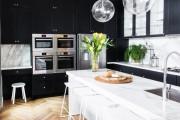 Фото 17 Черно-белая кухня: 40+ фото как оформить минималистичный интерьер