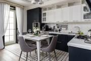 Фото 19 Черно-белая кухня: 40+ фото как оформить минималистичный интерьер