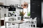 Фото 21 Черно-белая кухня: 40+ фото как оформить минималистичный интерьер