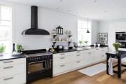 Фото 22 Черно-белая кухня: 40+ фото как оформить минималистичный интерьер