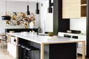 Фото 23 Черно-белая кухня: 40+ фото как оформить минималистичный интерьер