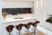Фото 11 Черно-белая кухня: 40+ фото как оформить минималистичный интерьер