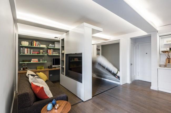 Раздвижные стены как идея организации пространства. Создание спальной зоны