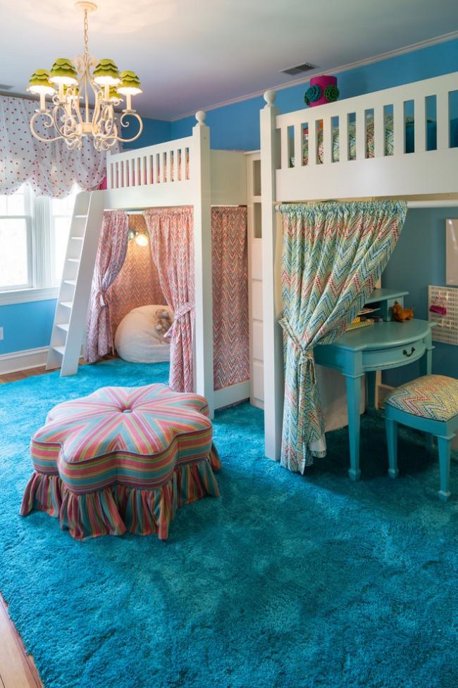 Кровать-чердак поможет сэкономить много места