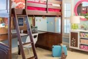 Фото 4 Кровать-чердак с рабочей зоной для подростка: 50 фото оптимизированного пространства