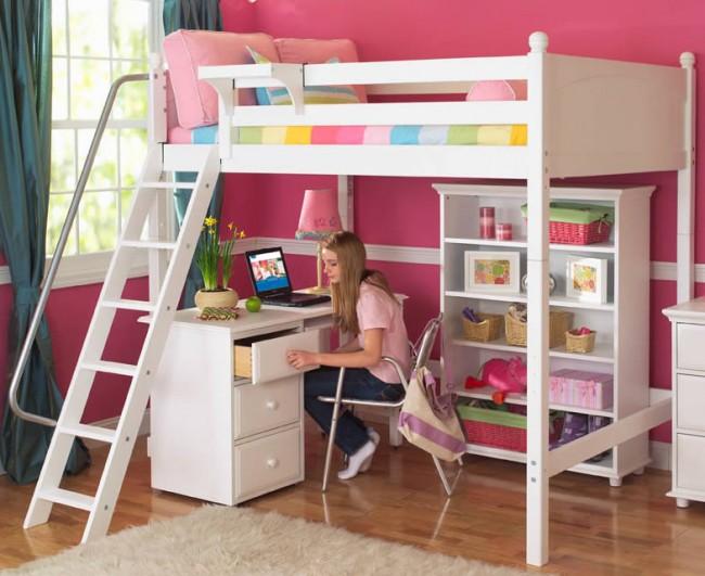 Лестница кровати-чердака должна быть удобной и безопасной