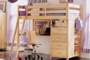 Фото 18 Кровать-чердак с рабочей зоной для подростка: 50 фото оптимизированного пространства