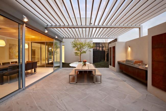 Как правило, строительство летней кухни выполняется в соответствии с общим стилем дома