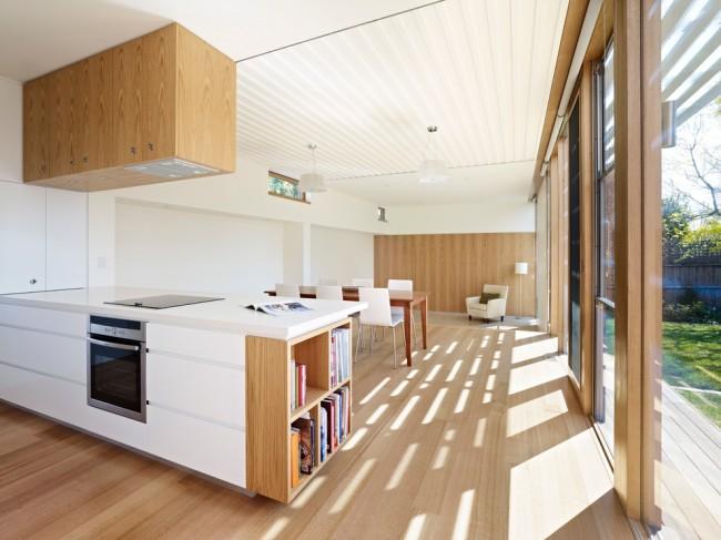 Стильная кухня в стиле модерн. Еще одно преимущество этой отделки - для него нужна самая нехитрая система крепления из алюминиевых профилей