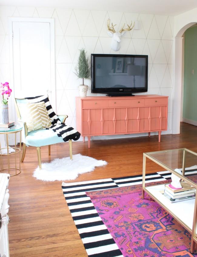 Гармонично подобранная мебель в интерьере стиля фьюжн