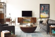 Фото 5 Тумбочка под телевизор: 45 современных идей для гостиной (фото)