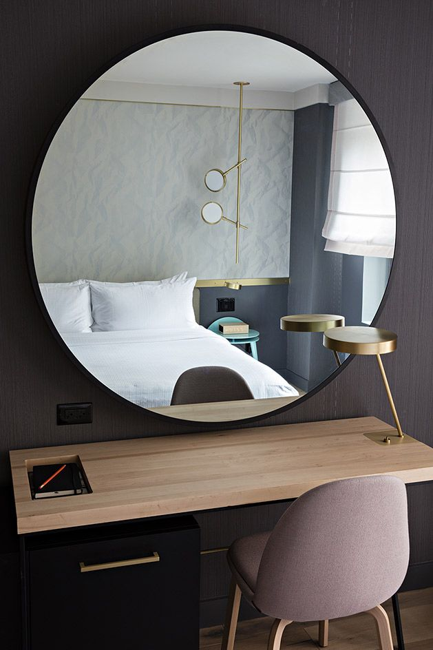 Навесные зеркала, если это не ванная, подходят исключительно для больших комнат