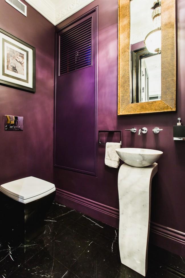 Арт-деко в интерьере туалета