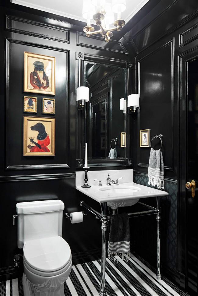 Черный туалет - привлекательное и стильное решение