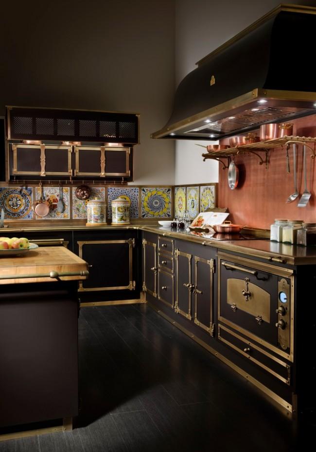 Классика, которая проявляется в аксессуарах кухонного гарнитура