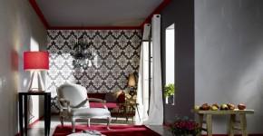 Комбинированные обои для зала: как оригинально оформить комнату? фото
