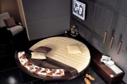 Фото 7 Круглая кровать в спальне: необычно и очень практично (фото)