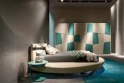 Фото 1 Круглая кровать в спальне: необычно и очень практично (фото)