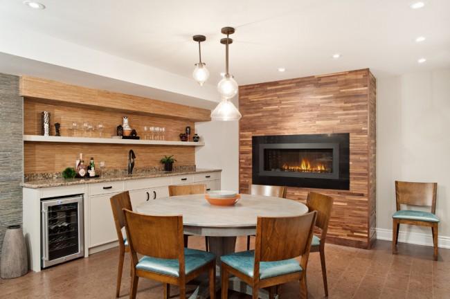 По своим качествам ламинированное покрытие фартука не уступает керамической плитке, которая уже стала традиционным материалом отделки в кухне