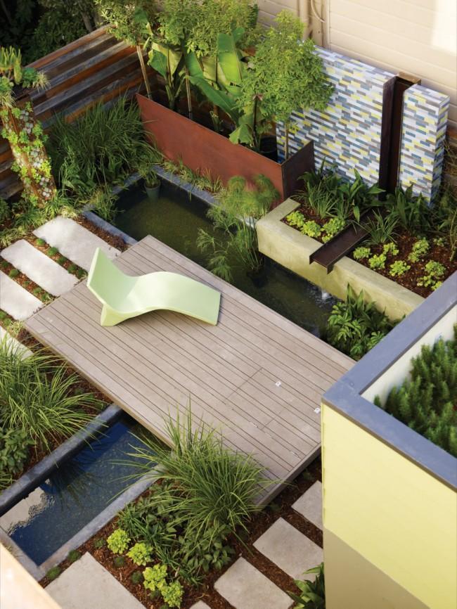 Основная задача ландшафтного дизайна - это создание красоты в сочетании с различными удобствами