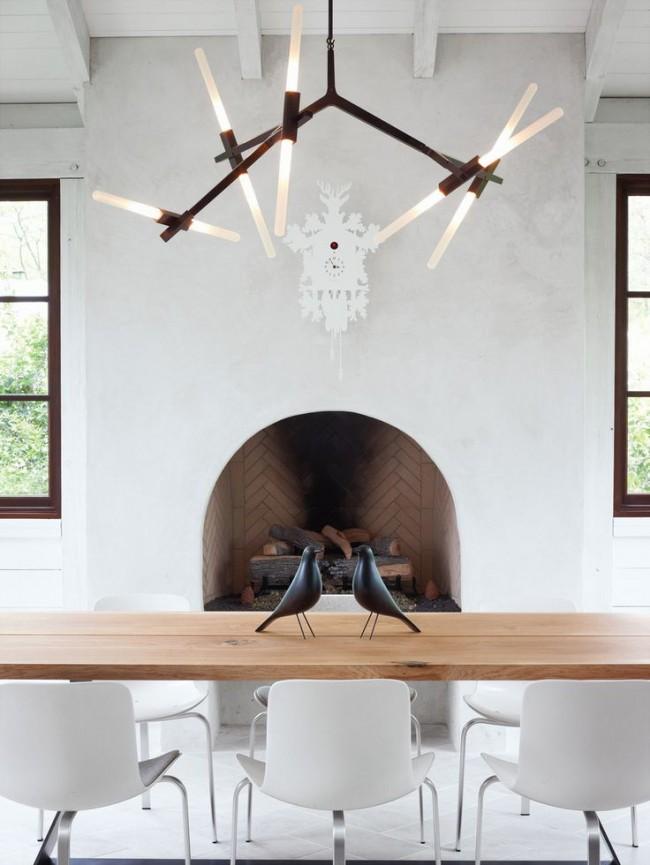 Люстра для кухни в стиле модерн отлично впишется в любой стиль, будь это минималистский дизайн, эклектичный или современный интерьер