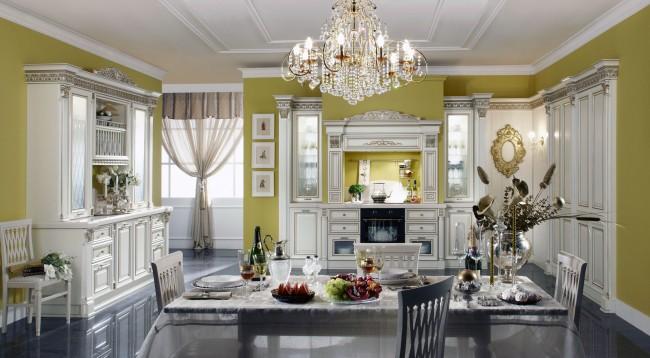 Канделябры достаточно популярны и в наше время. Такая люстра хороша на кухне в стиле шебби шик, шале, прованс. В чистой классике и ряде современных решений она тоже уместна
