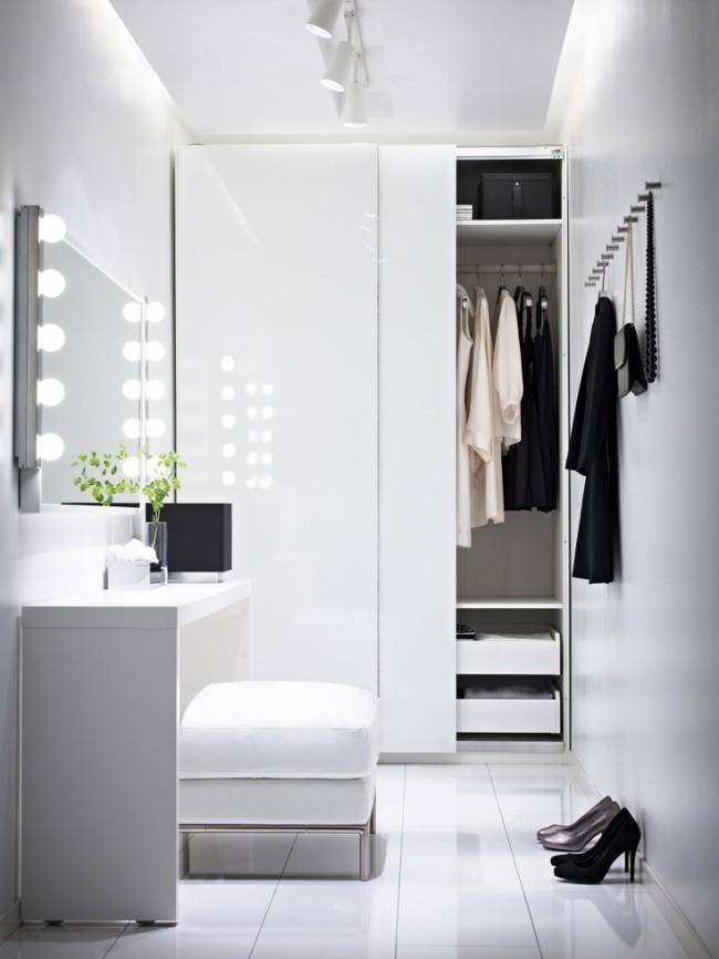 С помощью гардеробной можно увеличить комфортность жилища