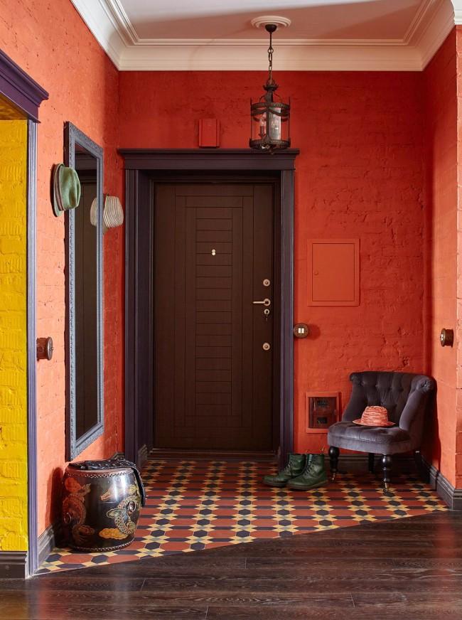 Напольная плитка в коридоре прихожей дизайн