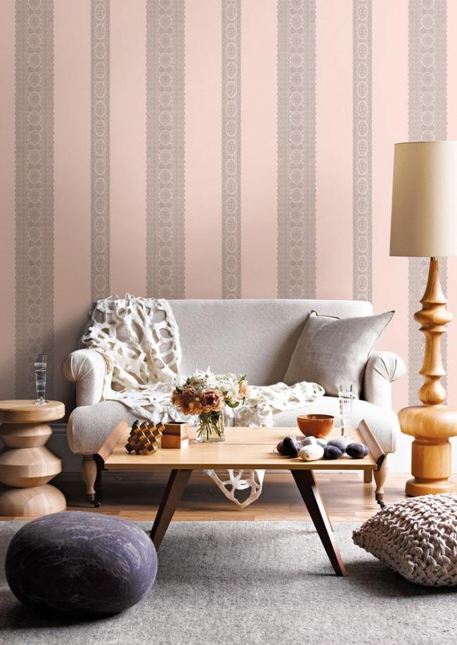 Модное сочетание серого и розового плюс винтажные мотивы