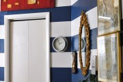 Фото 21 Полосатые обои в интерьере: 40+ смелых и спокойных сочетаний полоски в интерьере (фото)