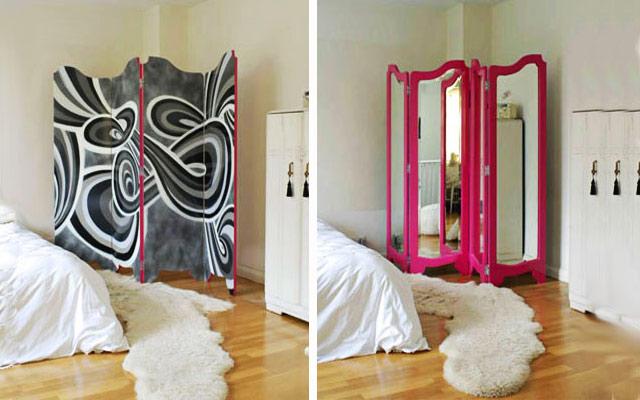 Ширма добавляет комнате изысканности и элегантности