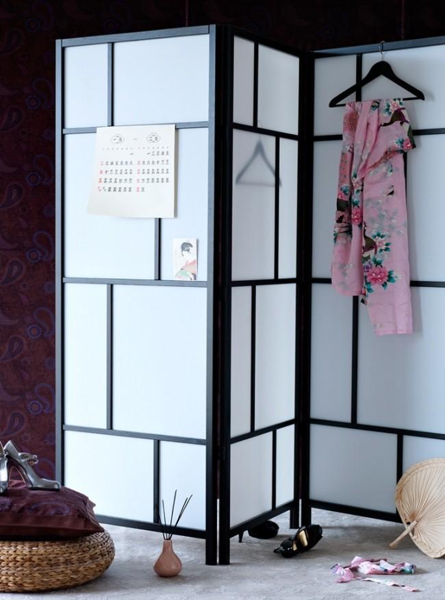 Утонченный японский стиль в декорациях комнаты
