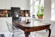Фото 21 Стол и стулья для кухни: 40+ идей организации обеденного пространства (фото)