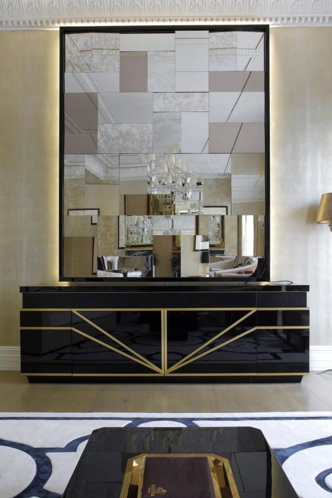 Именно стили модерн и авангард благодарнее всего откликаются на использование разнообразных необычных зеркал