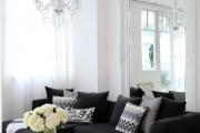 Фото 16 Дизайн черно-белой гостиной: 65+ вдохновляющих идей элегантного монохрома