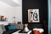 Фото 17 Дизайн черно-белой гостиной: 65+ вдохновляющих идей элегантного монохрома