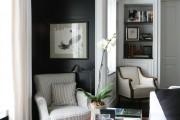 Фото 14 Дизайн черно-белой гостиной: 40 вдохновляющих идей элегантного монохрома