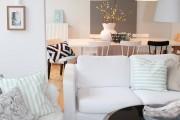 Фото 9 Дизайн черно-белой гостиной: 40 вдохновляющих идей элегантного монохрома