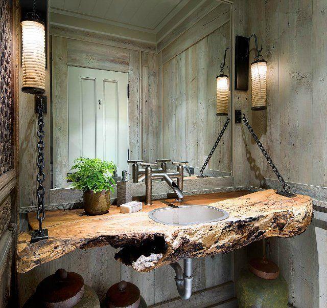 Необычная столешница из сруба дерева