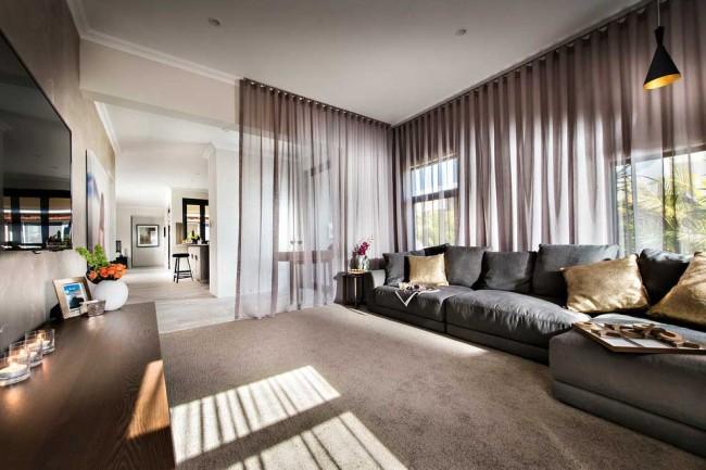 Стильный интерьер современной гостиной