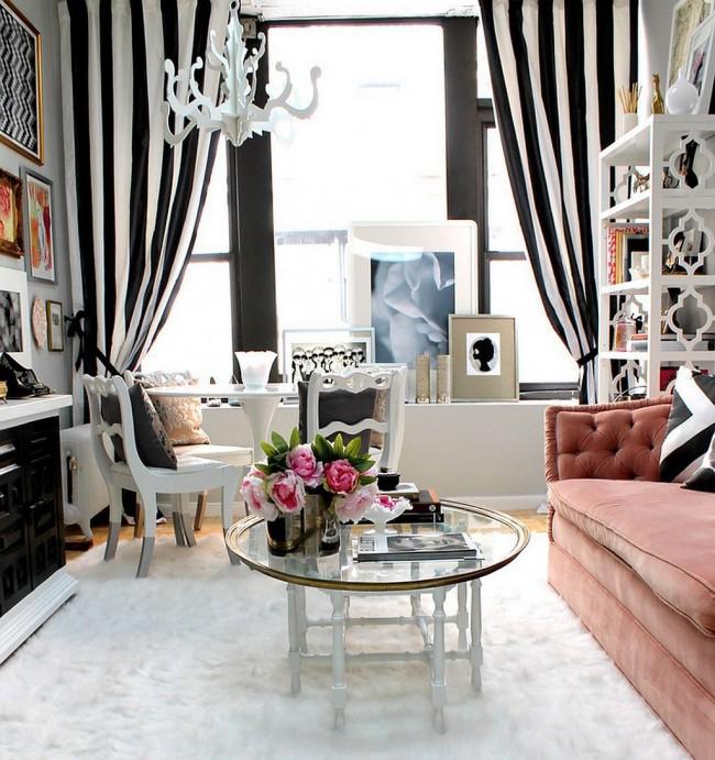Шикарная гостиная в стиле ар-деко