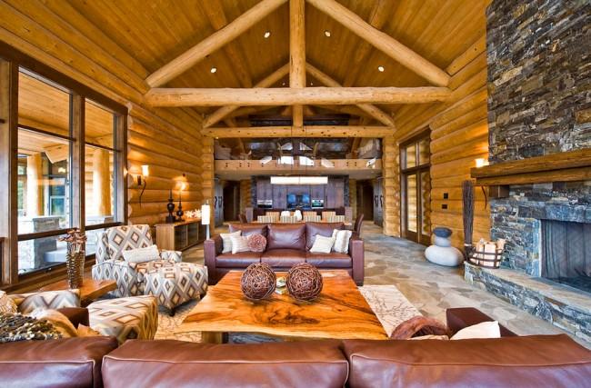 Оцилиндрованное бревно – экологически чистый материал, который обеспечивает комфортный и приятный микроклимат внутри постройки