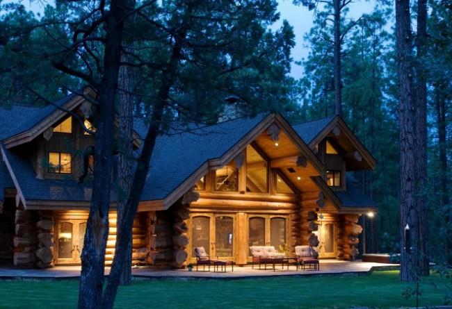 Сосна чаще всего используется для строительства дома