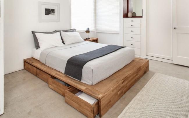 подиум кровать с ящиками фото