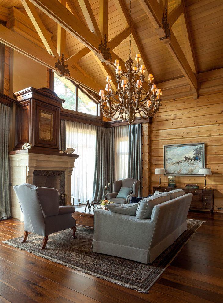 Классический интерьер в деревянном доме фото