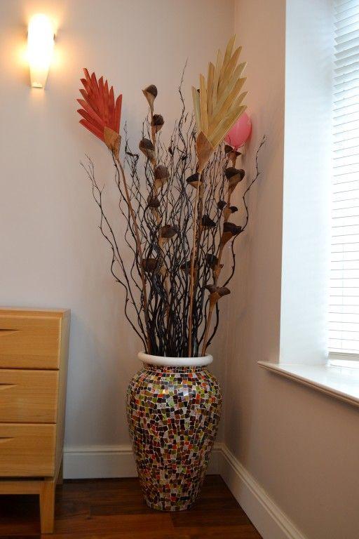 Как сделать декоративную напольную вазу