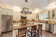 Фото 10 Натяжной потолок на кухне: можно ли делать и 70+ дизайнерских фотоидей  для глянцевого и матового финиша