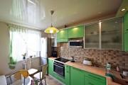 Фото 12 Натяжной потолок на кухне: можно ли делать и 70+ дизайнерских фотоидей  для глянцевого и матового финиша