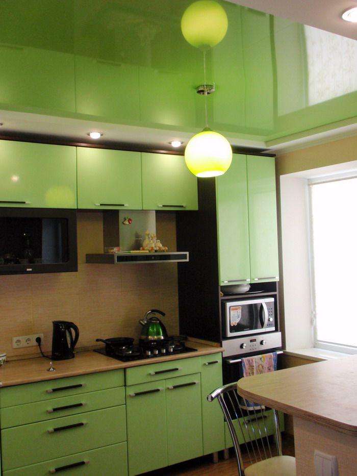 потолок натяжной для кухни фото